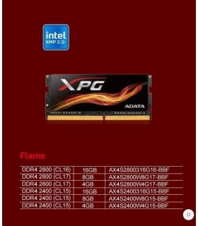 8GB DDR4 2800MHz CL17 ADATA XPG Flame Red