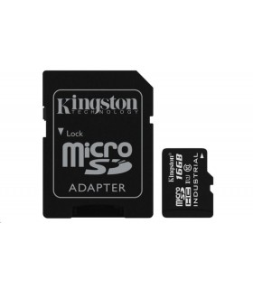 Kingston 16GB microSDHC UHS-I Class 10 Industrial Temp  + SD Adapter