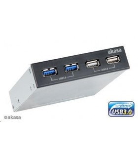 "AKASA HUB USB do 3,5"" pozice, 2x USB 2.0, 2x USB 3.0"