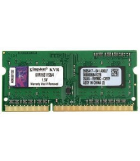 SO4GB DDR3 1600MHz CL11 SR X8 KINGSTON ValueRAM