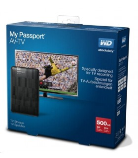 "WD 500GB My Passport AV-TV 2.5"" Black"