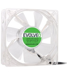 EVOLVEO 140mm LED modrý